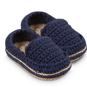 Navy Blue Crochet woolen Baby Shoe | The Brand Barrel