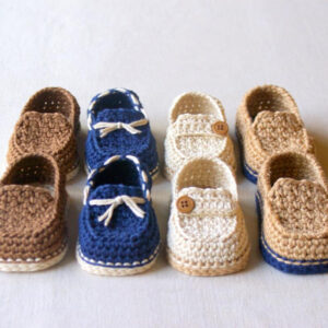 Crochet Baby Loafers | The Brand Barrel
